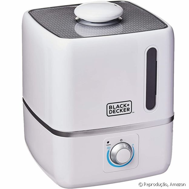 Umidificador de ar da Black + Decker tem recipiente exclusivo para fragrância