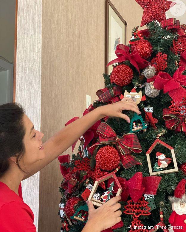 Thais Fersoza já enfeitou sua casa para o Natal