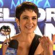 Sandra Annenberg diz que ficou feliz em receber o prêmio