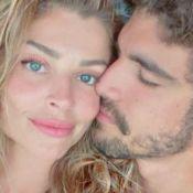 Caio Castro posta 1ª foto de beijo em Grazi Massafera ao festejar chegada de 2021
