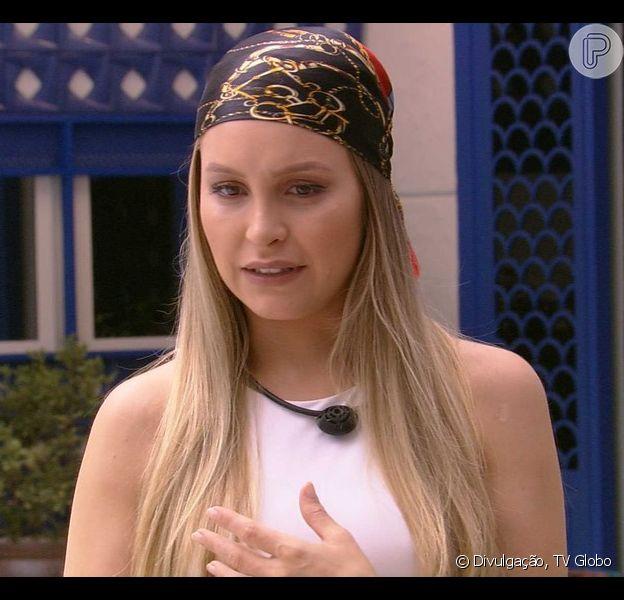 'BBB 21': Carla Diaz reage após Thais torcer por beijo dela e Arthur. Veja a seguir!
