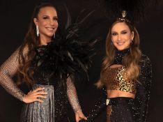 Franjas, brilhos e plumas: os looks de Ivete Sangalo e Claudia Leitte em live de Carnaval