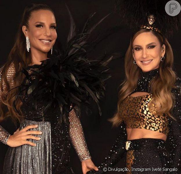 Ivete Sangalo e Claudia Leitte comandaram juntas uma live de Carnaval neste sábado, 13 de fevereiro de 2021