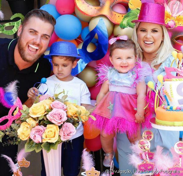 Filha de Zé Neto ganha 'Bloco de Carnaval' em comemoração de mesversário