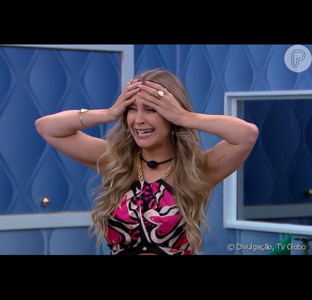 No 'BBB 21', Carla Diaz choca ao voltar de Paredão Falso