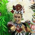 Carla Diaz já foi musa da Grande Rio ao desfilar como destaque de chão