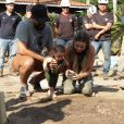 Filho de Biah Rodrigues e Sorocaba, Theo teve o seu umbigo plantado embaixo de uma árvore na fazenda da família