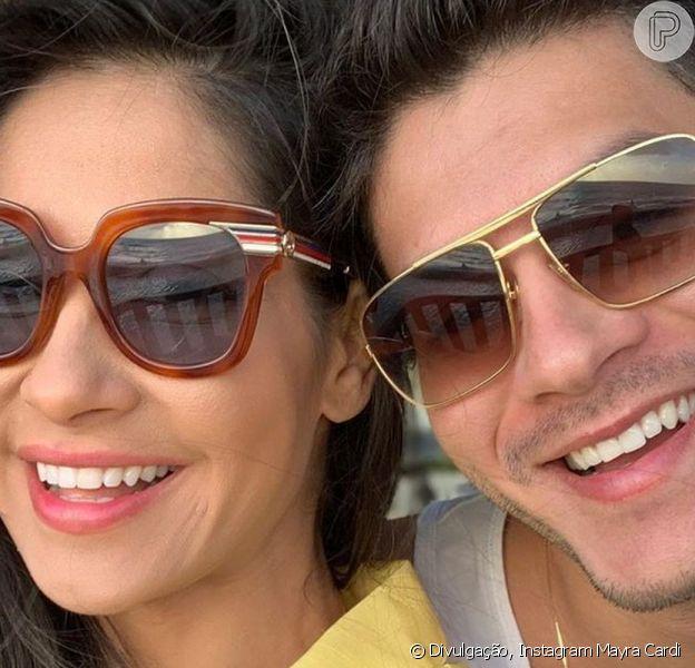 Mayra Cardi e Arthur Aguiar apareceram juntos pela primeira vez em uma foto desde que reataram o casamento