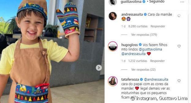 Gusttavo Lima ganha comentário de Andressa Suita em foto