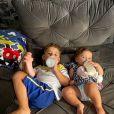Zé Neto e Natália Toscano são pais de José Filho e Angelina