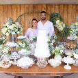 Viviane Araújo e Guilherme Militão estão casados: atriz e empresário realizaram cerimônia no civil