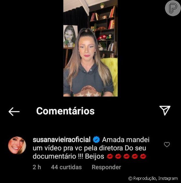 Susana Vieira comenta em live de Juliette