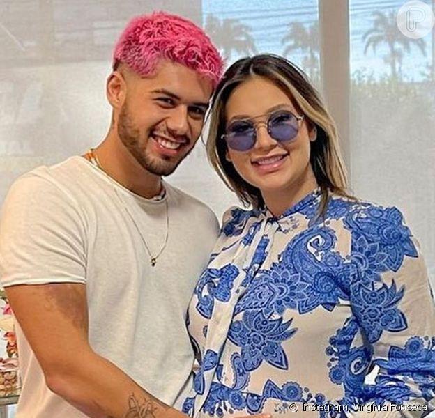 Zé Felipe mostrou Virgínia Fonseca com a filha no colo