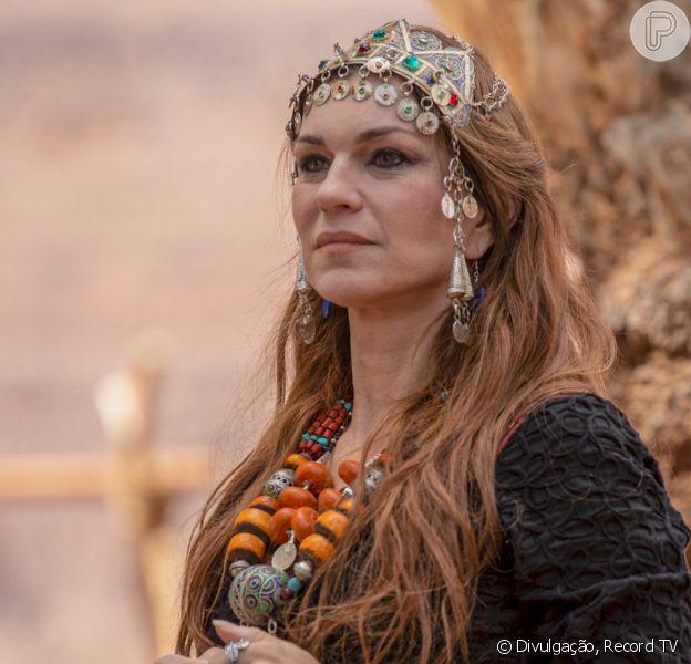 Novela 'Gênesis': Sara (Adriana Garambone) evita que Ismael (Henrique Camargo) provoque acidente com Isaque