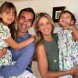 Ticiane Pinheiro é casada com Cesar Tralli desde 2017 e mãe e Rafaella e Manuella