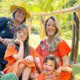 Ticiane Pinheiro gosta de combinar looks com a mãe, Helô Pinheiro, e as filhas, Rafaella e Manuella