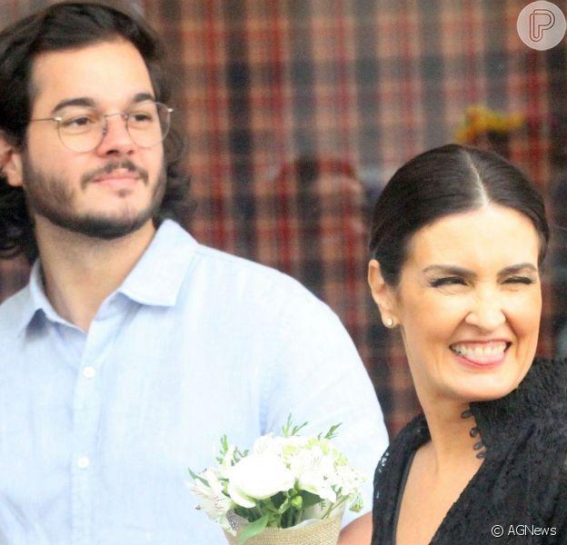 Fátima Bernardes foi pega de surpresa por uma declaração de amor de Túlio Gadêlha
