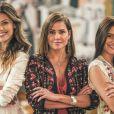 Na última semana da novela 'Salve-se Quem Puder', Kyra (Vitória Strada), Alexia (Deborah Secco) e Luna (Juliana Paiva) decidem com quem vão ficar