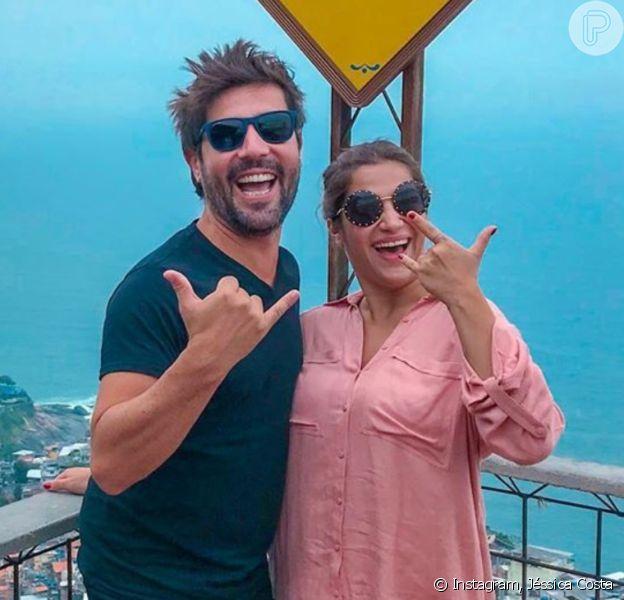 Jéssica Costa afastou reconciliação com o ex-marido, Sandro Pedroso, pai de seu filho, Noah, de 5 anos: 'Somos apenas amigos'