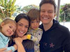 Thaís Fersoza se derrete ao mostrar filhos cantando com Michel Teló em live: 'Coisa mais amada'