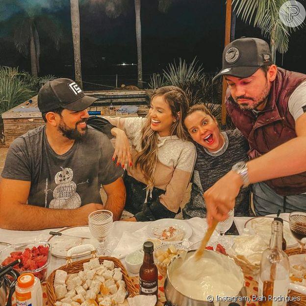 Biah Rodrigues compartilha foto ao lado do marido, o cantor Sorocaba, e de Maiara e Fernando