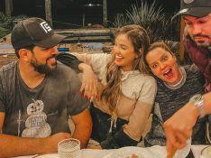 Noite romântica! Biah Rodrigues e Sorocaba se reúnem com Maiara e Fernando em jantar de fondue. Veja!