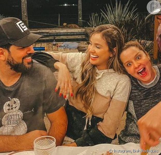Biah Rodrigues aparece em foto de jantar romântico com Sorocaba, Fernando e Maiara