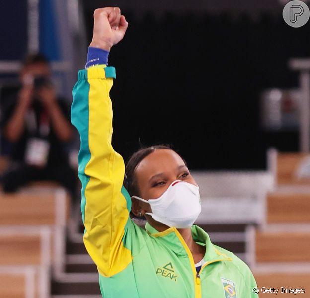 Rebeca Andrade fez famosos vibrarem com sua conquista inédita na ginástica artística na Olimpíada de Tóquio em 29 de julho de 2021
