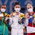 Olimpíada de Tóquio: Rebeca Andrade ficou atrás da americana S unisa Lee e à frente da russa  Angelina Melnikova