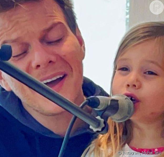 Filha de Thais Fersoza e Michel Teló, Melinda faz 5 anos em 1º de agosto de 2021 e ganhou homenagem dos pais na web. 'Que menina incrível que você é!', afirmou o cantor