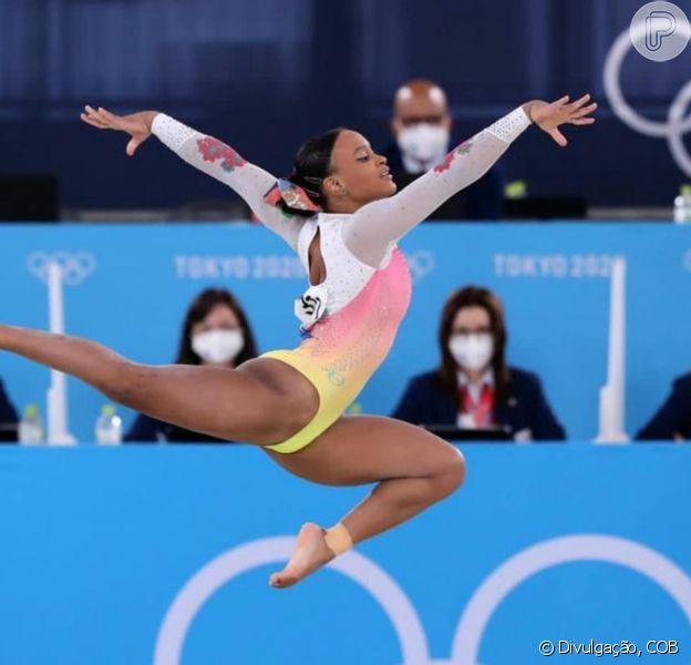 Rebeca Andrade fez história nas Olimpíadas e ganhou recado dos famosos brasileiros após fim da participação nos Jogos de Tóquio