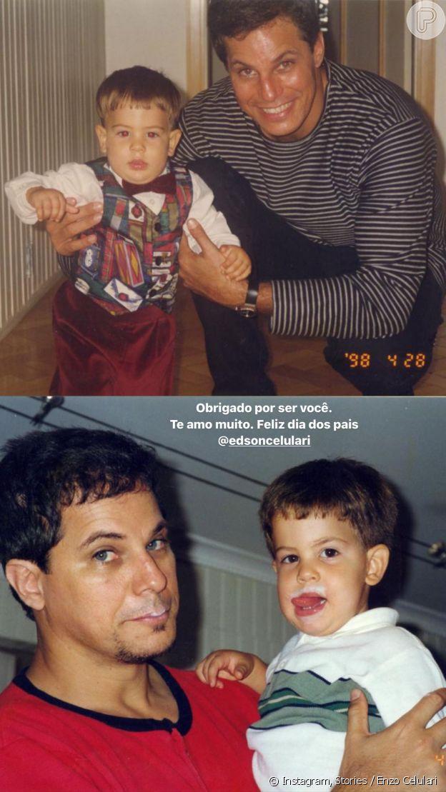 Enzo Celulari faz homenagem de dia dos pais para Edson Celulari