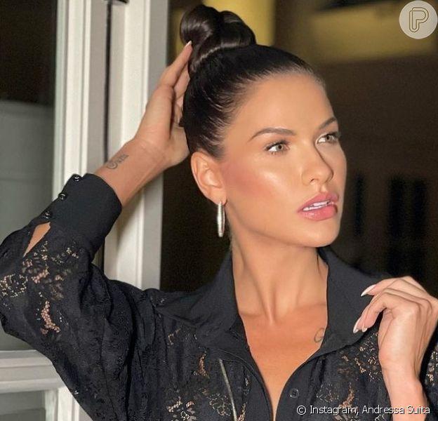 Andressa Suita desabafou sobre corpo após duas gestações dos filhos com Gusttavo Lima: 'Tudo muda'