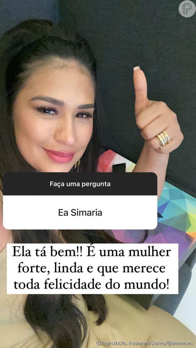 Simone responde pergunta sobre separação da irmã, Simaria