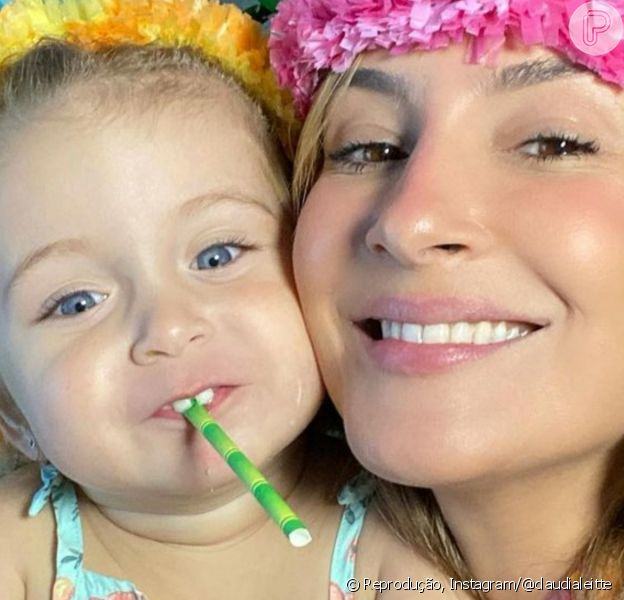 Claudia Leitte vestiu a filha, Bela, de Moana no seu 2º aniversário: 'Moana mais linda do mundo'