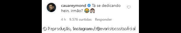 Comentário de Cauã Reymond em resposta à montagem de Evaristo Costa