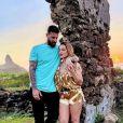 Cleo, de 38 anos está na 'primeira parte' de sua lua de mel com o marido, Leandro D'Lucca, de 38