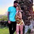 Cleo casou com Leandro D'Lucca em cartório de Minas Gerais em julho e está aproveitando lua de mel em Fernando de Noronha