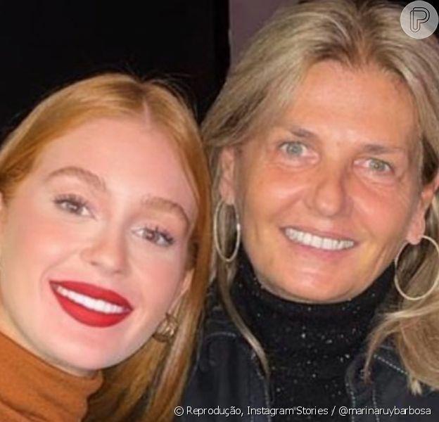 Marina Ruy Barbosa posta rara foto ao lado da sogra para desejar feliz aniversário a mãe do namorado, Guilherme Mussi