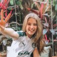 Lorena Queiroz não esconde sua paixão pelo Palmeiras em fotos no Instagram