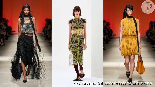 Semana de Moda de Milão: franjas se destacam nas passarelas