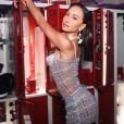 Sabrina Sato escolheu look com body transparente e saia míni Jean Paul Gaultier