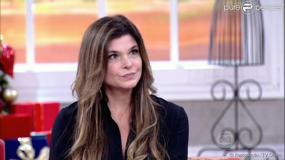 Cristiana Oliveira comenta que já sofreu magrofobia e gordofobia 'Anoréxica e baleia', comenta ela durante o programa 'Encontro com Fátima Bernardes', desta terça-feira, 2 de dezembro de 2014