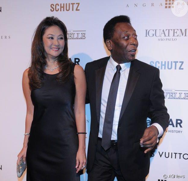 Pelé planeja agora oficializar a união com a empresária Márcia Cibele Aoki em março de 2015