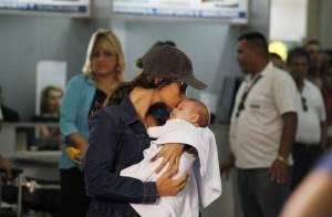 'Salve Jorge': Morena retorna ao Rio com a filha nos braços, escoltada por Helô