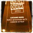 Luciano Huck recebe prêmio de Melhor Apresentador de TV e publica foto no Instagram