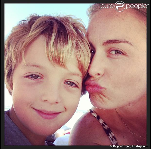 Angélica puplica foto com o filho mais velho, Joaquim, de 8 anos