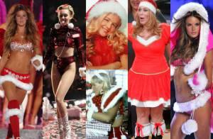 Confira fotos de famosas, como Miley Cyrus e Xuxa, vestidas de Mamãe Noel