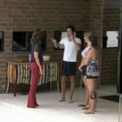 'BBB13': Fátima Bernardes visita Andressa, Nasser e Fernanda no dia da final