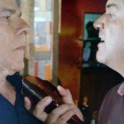 'Império': Felipe ameaça Cláudio com caco de vidro e admite paixão por Enrico